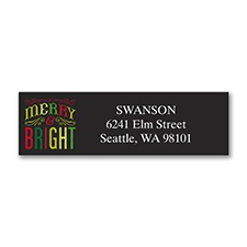 Merry and Bright - Address Label